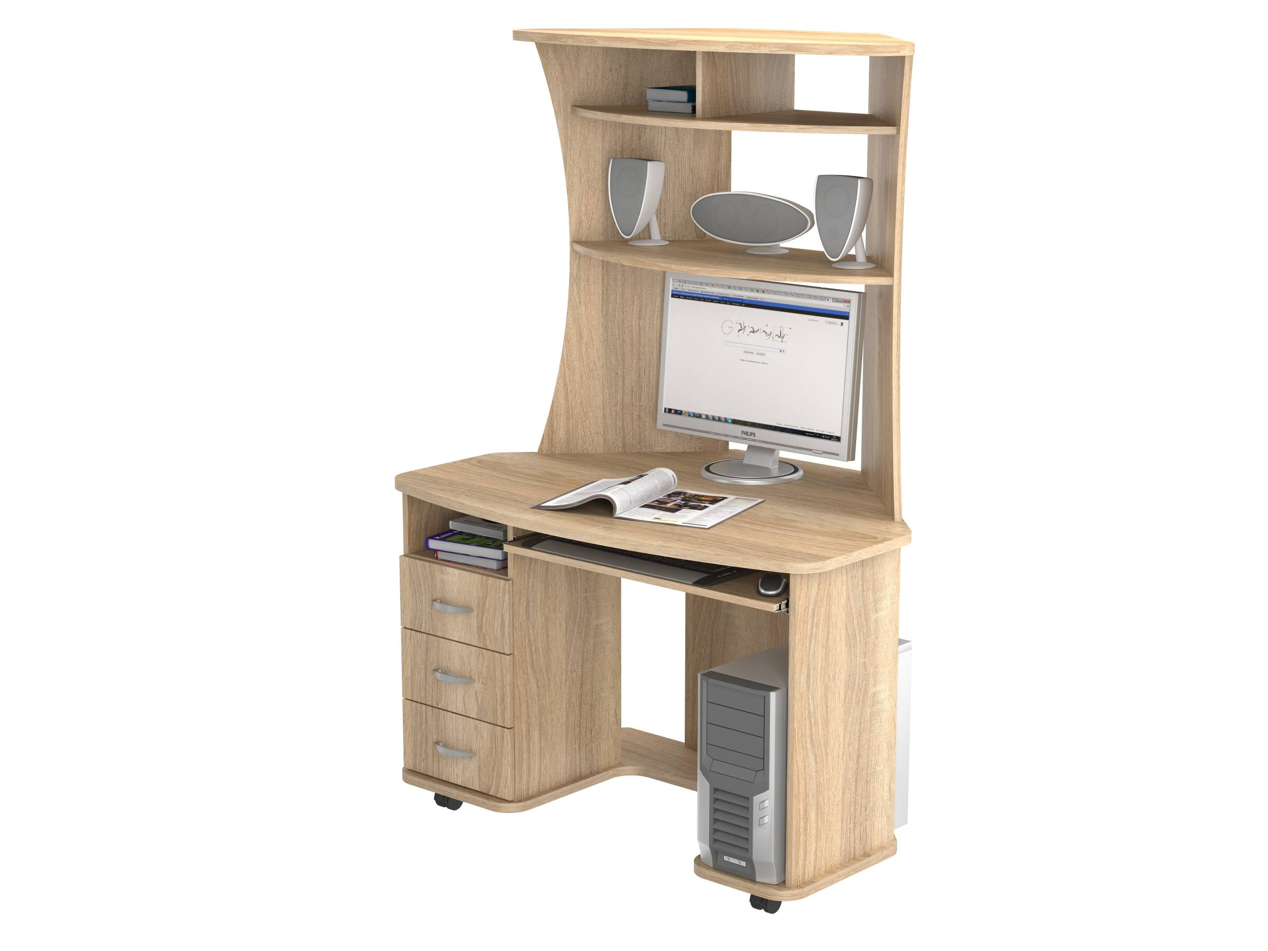 Угловой компьютерный стол кс 20-26 - угловой компьютерный ст.